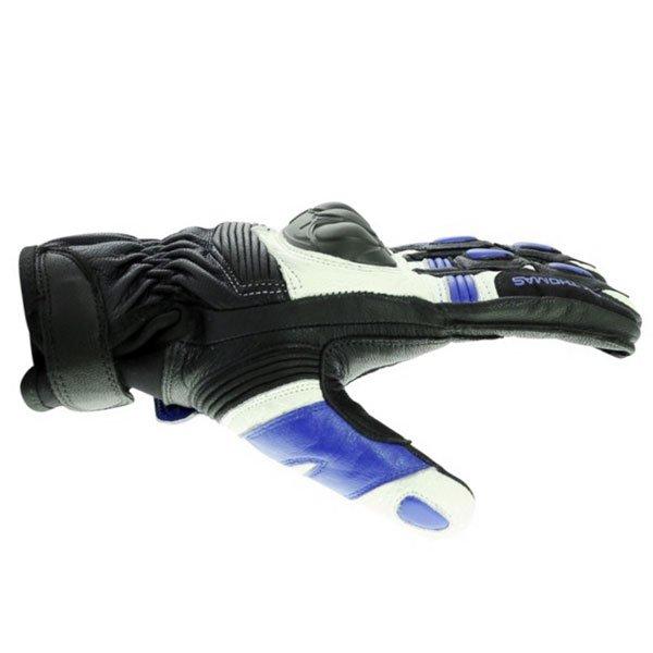 Frank Thomas A07-18 Street Black White Blue Motorcycle Gloves Thumb side