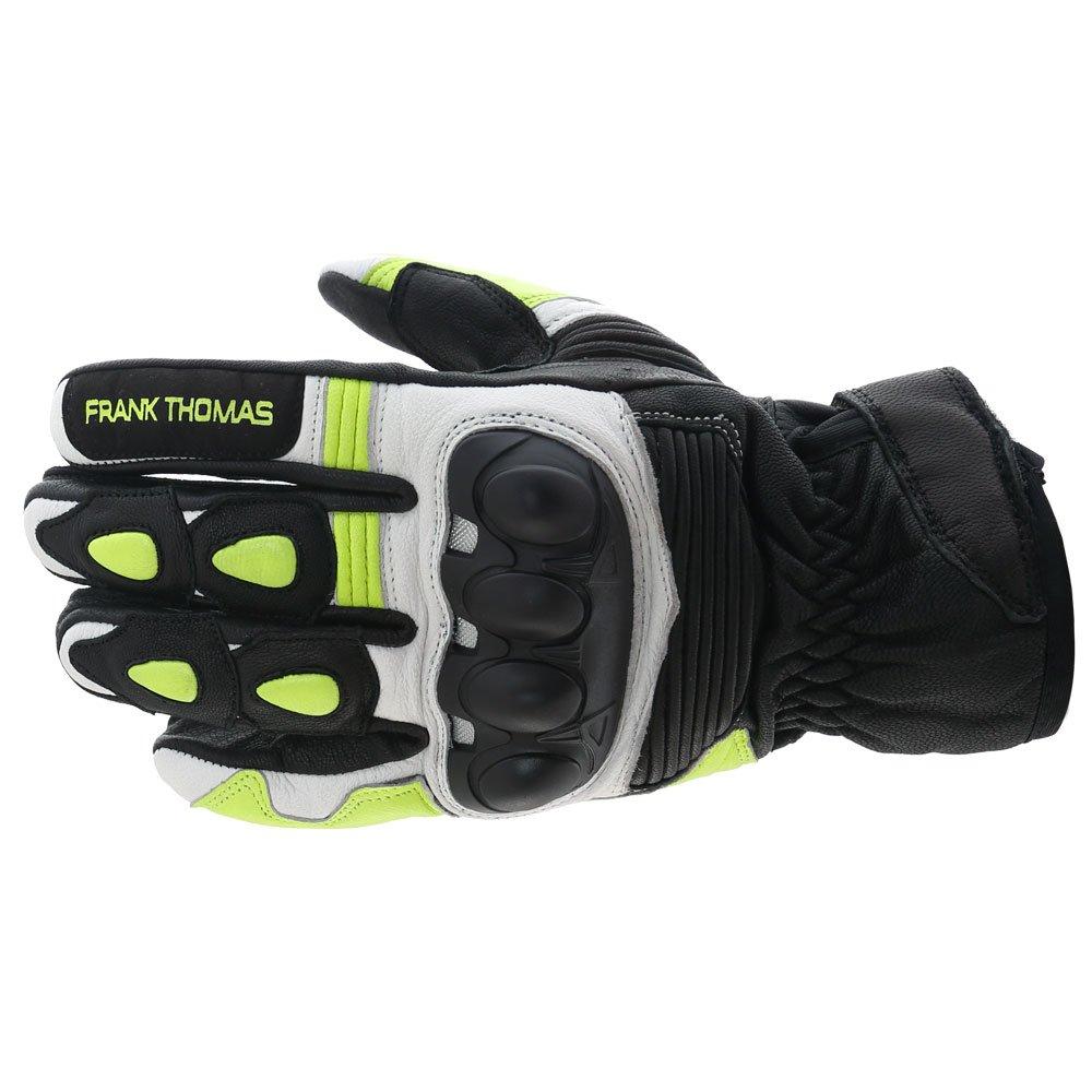 A07-18 Street Gloves Black White Flo Yellow