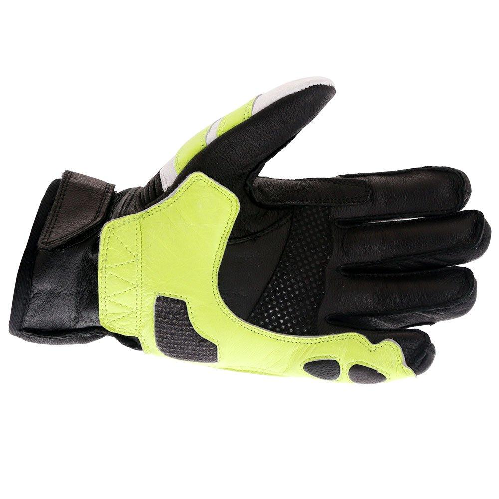 Frank Thomas A07-18 Street Black White Fluo Yellow Motorcycle Gloves Palm
