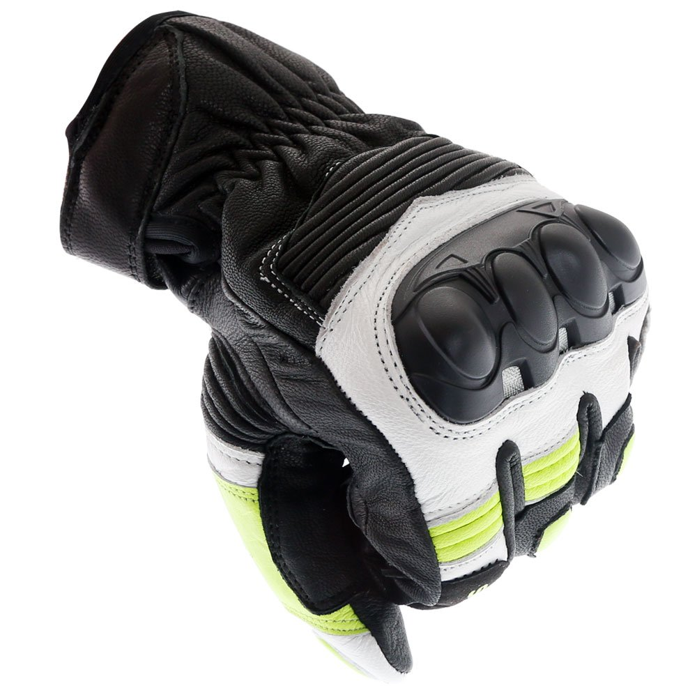 Frank Thomas A07-18 Street Black White Fluo Yellow Motorcycle Gloves Knuckle