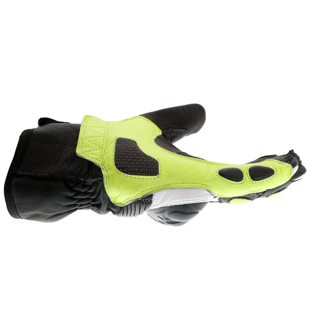 Frank Thomas A07-18 Street Black White Fluo Yellow Motorcycle Gloves Little finger side