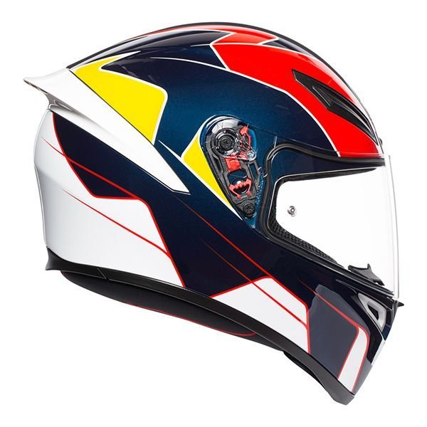 AGV K1 Pitlane Blue Red Yellow Full Face Motorcycle Helmet Right Side