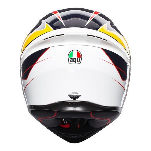 AGV K1 Pitlane Blue Red Yellow Full Face Motorcycle Helmet Back