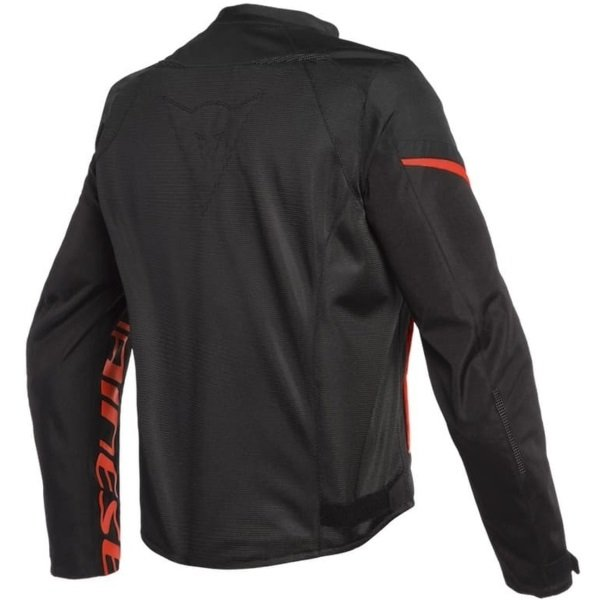 Dainese Bora Air Black Fluo Red Textile Motorcycle Jacket Back