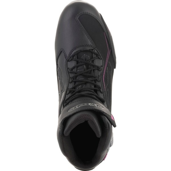 Alpinestars Faster-3 Drystar Ladies Black Fuchsia Motorcycle Shoes Top
