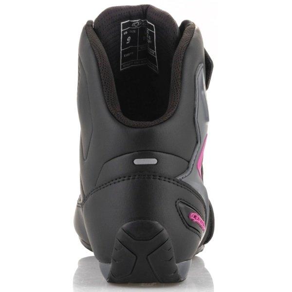 Alpinestars Faster-3 Drystar Ladies Black Fuchsia Motorcycle Shoes Heel