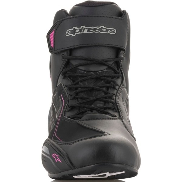 Alpinestars Faster-3 Drystar Ladies Black Fuchsia Motorcycle Shoes Front