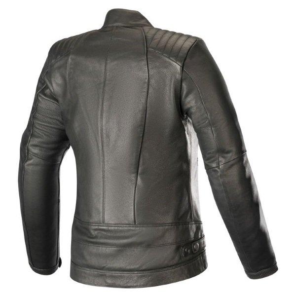 Alpinestars Gal Womens Black Leather Motorcycle Jacket Back