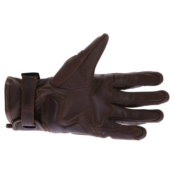 BKS 101 Bobber Brown Motorcycle Gloves Palm