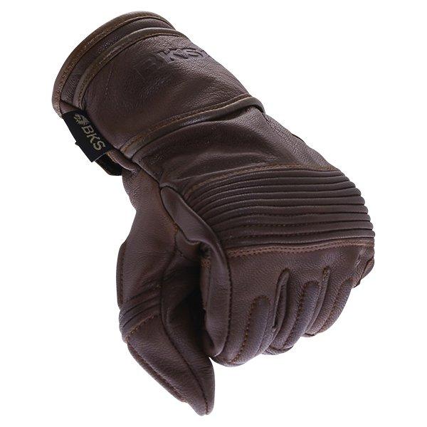 BKS 101 Bobber Brown Motorcycle Gloves Knuckle