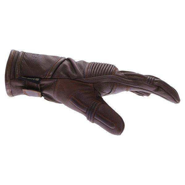 BKS 101 Bobber Brown Motorcycle Gloves Thumb side