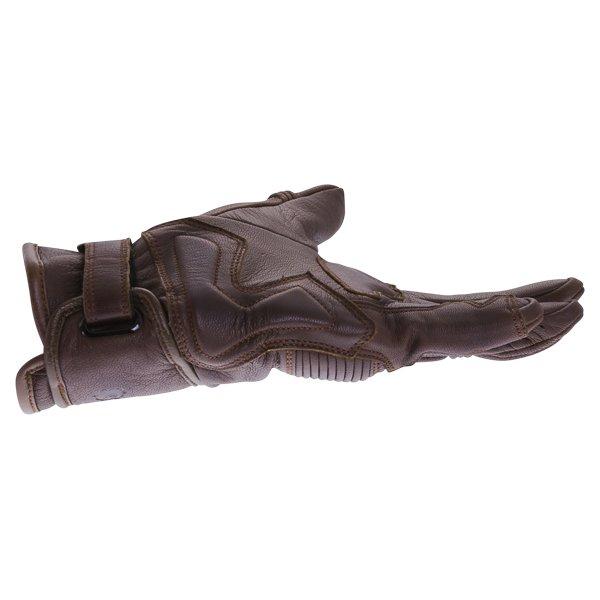 BKS 101 Bobber Brown Motorcycle Gloves Little finger side