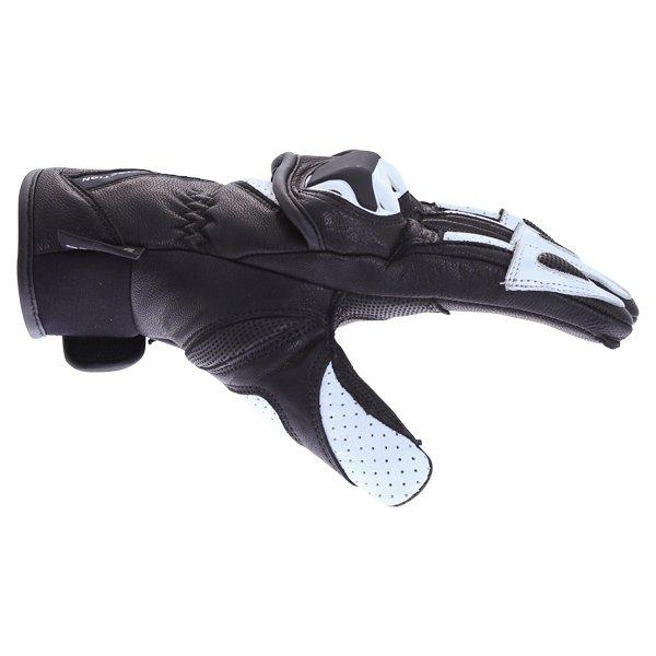 BKS 103 Circuit Black White Motorcycle Gloves Thumb side