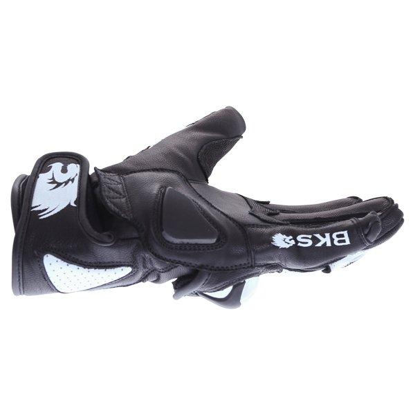 BKS 103 Circuit Black White Motorcycle Gloves Little finger side