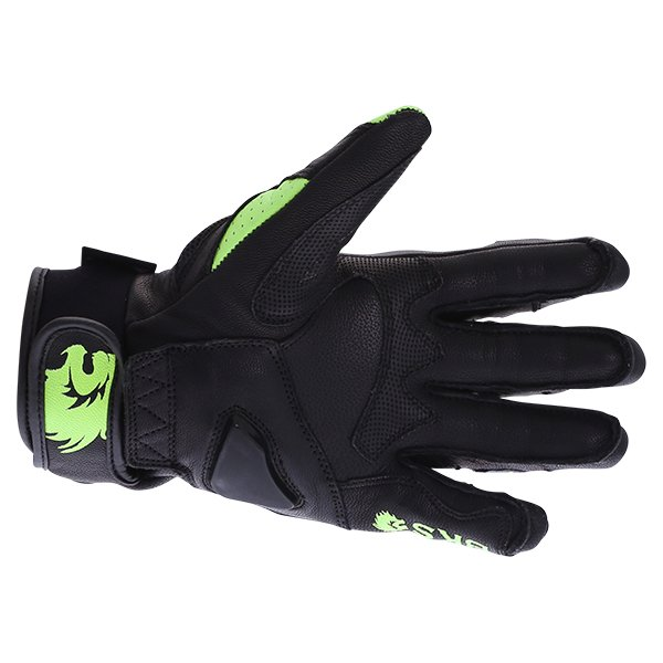 BKS 103 Circuit Black Fluo Yellow Motorcycle Gloves Palm