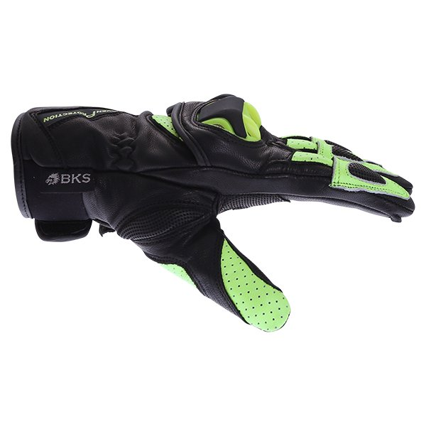 BKS 103 Circuit Black Fluo Yellow Motorcycle Gloves Thumb side