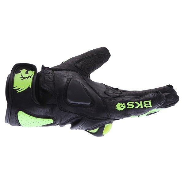BKS 103 Circuit Black Fluo Yellow Motorcycle Gloves Little finger side
