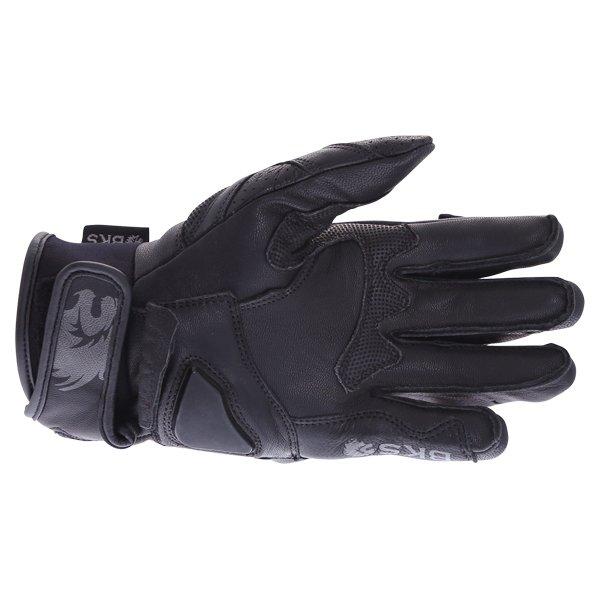 BKS 103 Circuit Black Motorcycle Gloves Palm