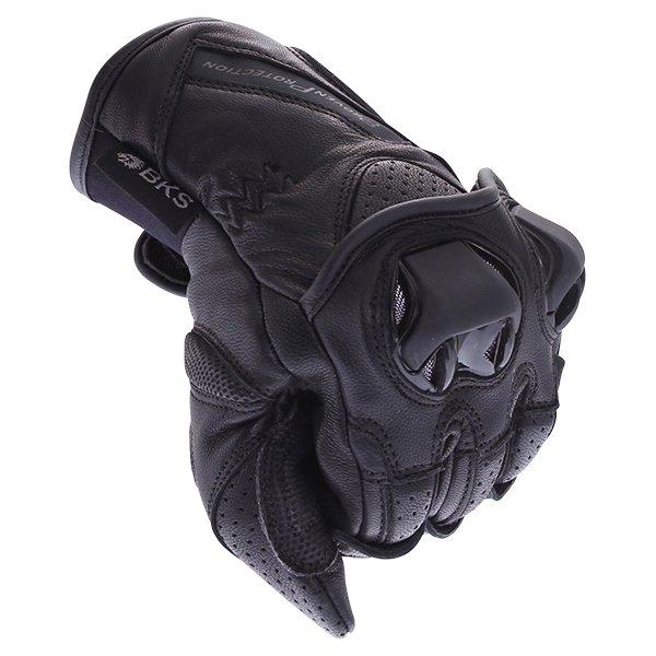 BKS 103 Circuit Black Motorcycle Gloves Knuckle