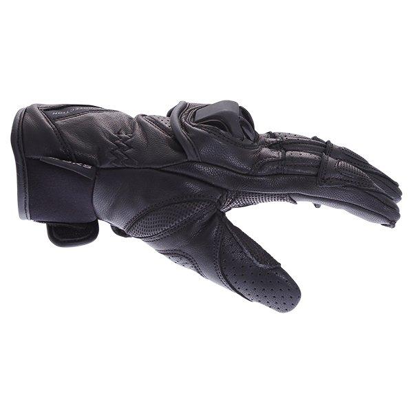BKS 103 Circuit Black Motorcycle Gloves Thumb side