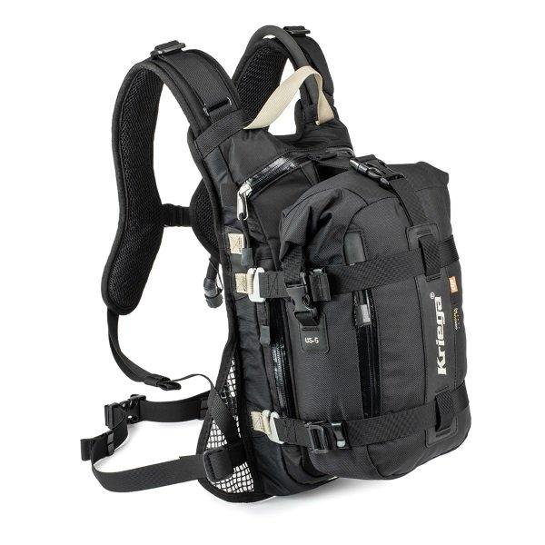 Kriega Drypack US-5 used with Kriega motorcycle backpack