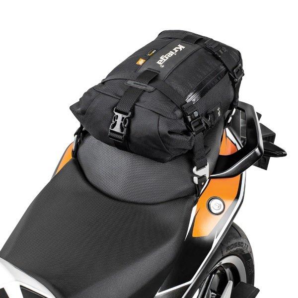 Kriega Drypack US-5 used as a motorcycle tail pack