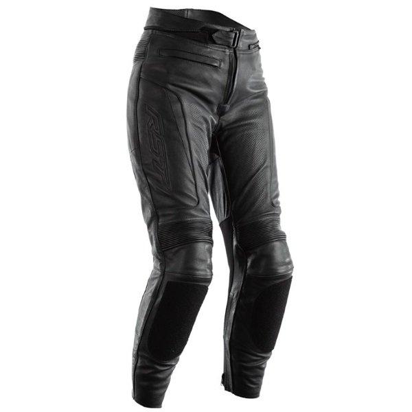 GT CE Ladies Leather Jeans Black Ladies