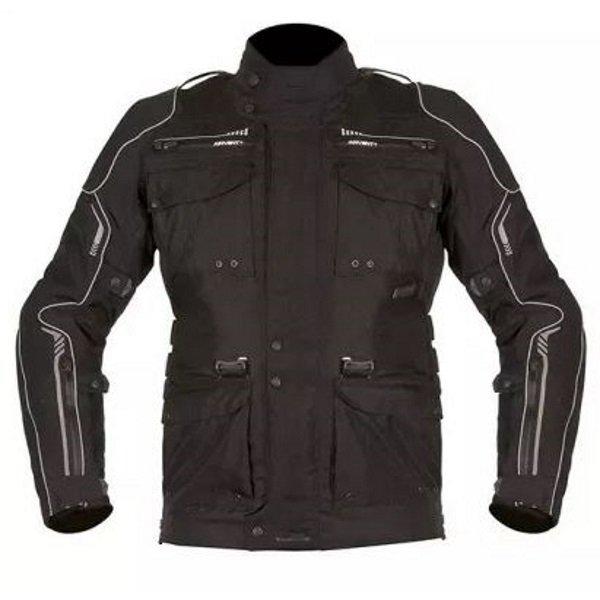 Akito Latitude Black Textile Motorcycle Jacket Front