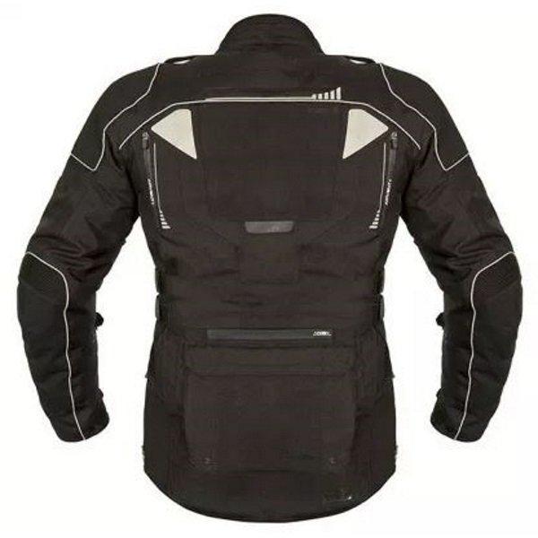 Akito Latitude Black Textile Motorcycle Jacket Back