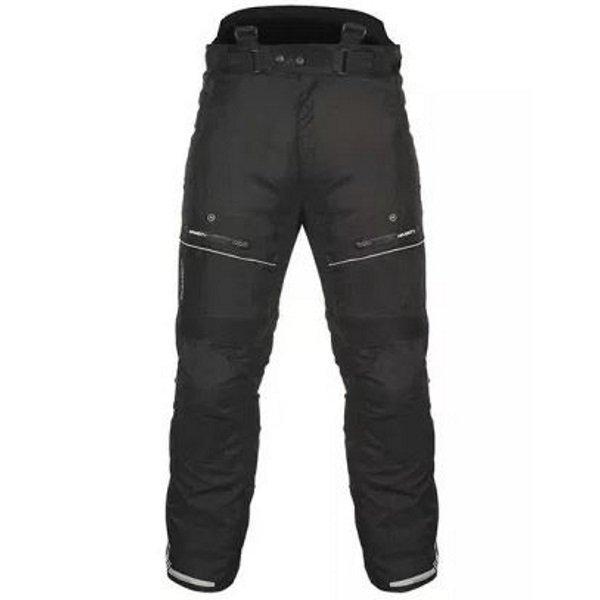 Akito Latitude Black Textile Motorcycle Pants Front