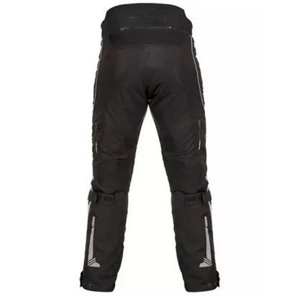 Akito Latitude Black Textile Motorcycle Pants Rear