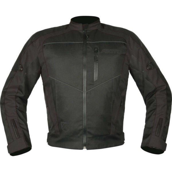 Akito Horizon Black Textile Motorcycle Jacket Front