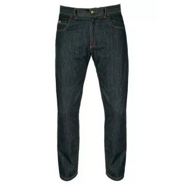 Akito District Midnight Blue Denim Motorcycle Jeans Front