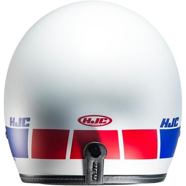 HJC FG-70s Modik Red White Blue Open Face Motorcycle Helmet Back