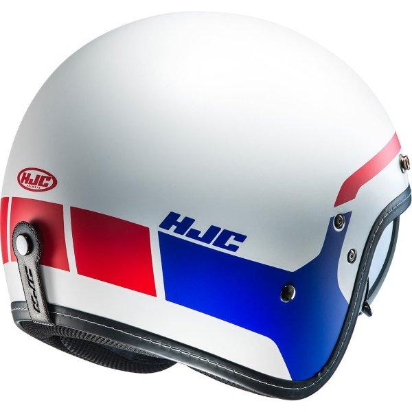 HJC FG-70s Modik Red White Blue Open Face Motorcycle Helmet Back Right