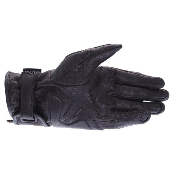 BKS 102 Bobber Ladies Black Motorcycle Gloves Palm