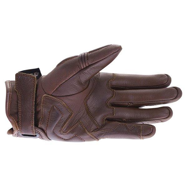 BKS 102 Bobber Ladies Brown Motorcycle Gloves Palm