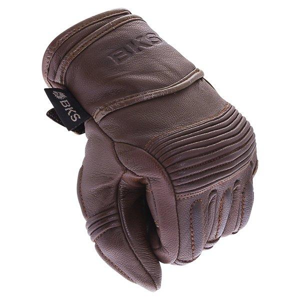 BKS 102 Bobber Ladies Brown Motorcycle Gloves Knuckle