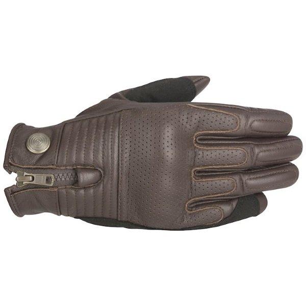 Alpinestars Rayburn Brown Motorcycle Gloves Back
