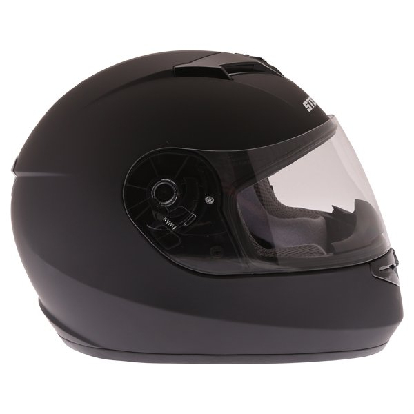 Stealth V121 Matt Black Full Face Motorcycle Helmet Right Side