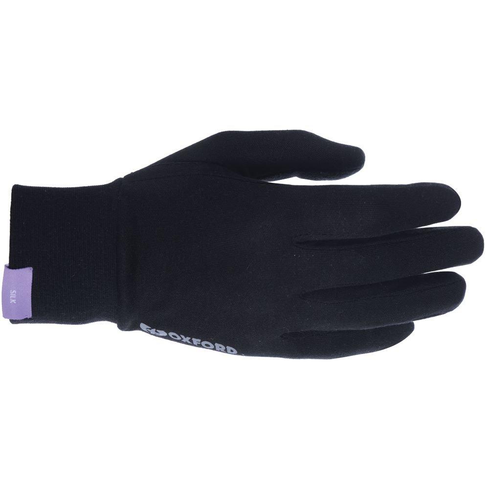 Deluxe Silk Gloves Black Inner Gloves