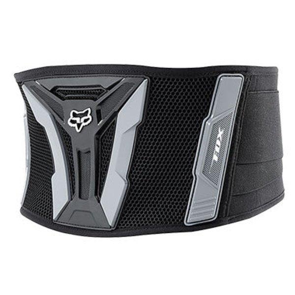 Fox Turbo Black Grey Kidney Belt Protector