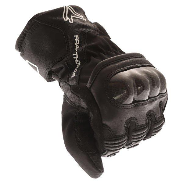 Frank Thomas FT-51 Winter Ladies Black Motorcycle Gloves Knuckle