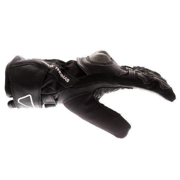 Frank Thomas FT-51 Winter Ladies Black Motorcycle Gloves Thumb side