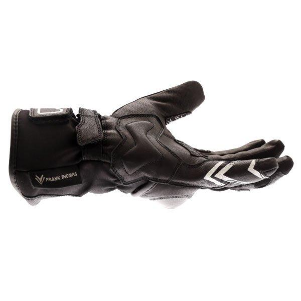 Frank Thomas FT-51 Winter Ladies Black Motorcycle Gloves Little finger side