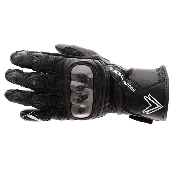 Frank Thomas FTL-51 Summer Ladies Black Motorcycle Gloves Back