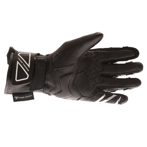 Frank Thomas FTL-51 Summer Ladies Black Motorcycle Gloves Palm