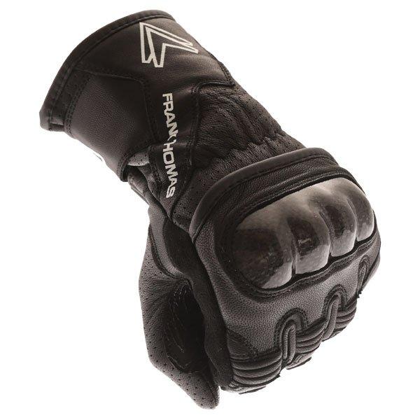 Frank Thomas FTL-51 Summer Ladies Black Motorcycle Gloves Knuckle