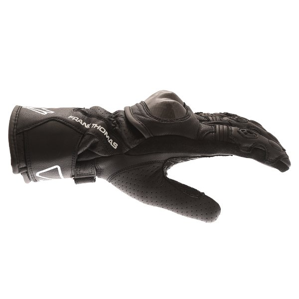 Frank Thomas FTL-51 Summer Ladies Black Motorcycle Gloves Thumb side