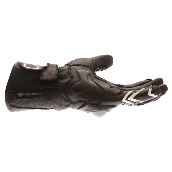 Frank Thomas FTL-51 Summer Ladies Black Motorcycle Gloves Little finger side